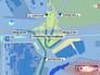 Инфографика движения транспорта на развязке МКАД с Мичуринским проспектом