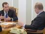 Дмитрий Медведев и Владимир Путин на совещании с руководством правительства РФ