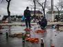 Подготовка площадки для обороны в Луганске