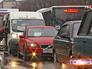 Автомобильная пробка в Балашихе