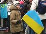 Мальчик с Украинским флагом
