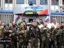 Вооруженные бойцы самообороны Юго-Востока Украины