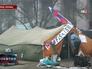 Палаточный лагерь в Донецке