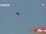 Военный истребитель над городом Краматорск