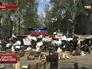 Баррикады на улицах в Донецкой области