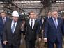 Дмитрий Медведев во время посещения Хабаровского судостроительного завода