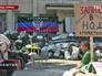 Пункт записи в народное ополчение в Донецке