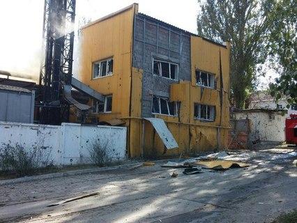 Хлебзавод в Донецке после обстрела, фото: vk.com