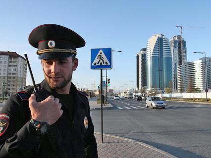 Полиция в Грозном