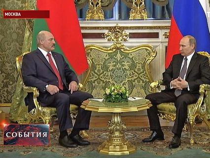 Владимир Путин на встрече с Александром Лукашенко