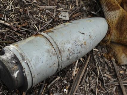 Неразорвавшийся украинский снаряд