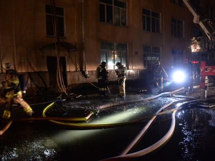 Во время тушения пожара