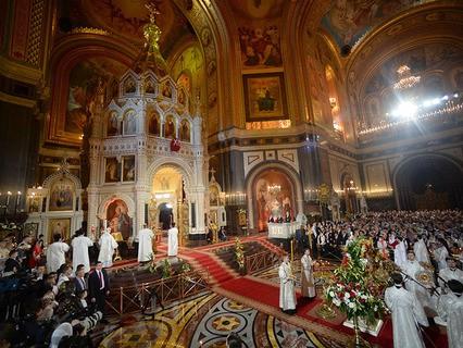 Пасхальная литургия в Храме Христа Спасителя