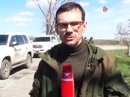 "Журналист телеканала ""Звезда"" Андрей Лунёв"