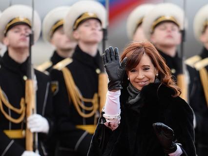 Президент Аргентины Кристина Киршнер прибыла в Москву
