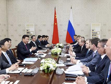 Переговоры Владимира Путина и Си Цзиньпина