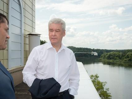 Сергей Собянин на очистных сооружениях