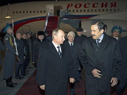 Владимир Путин и премьер-министр Казахстана Карим Масимов