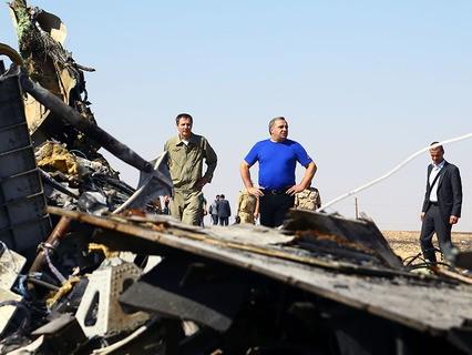 Глава МЧС на месте крушени A321