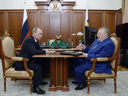 Владимир Путин встретился с лидером ЛДПР Владимиром Жириновским
