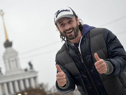 Илья Авербух на катке на ВДНХ