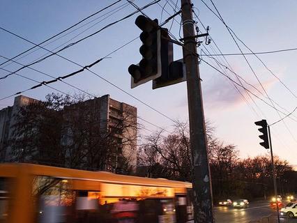 Отключенные светофоры в Симферополе