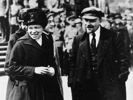 В.И. Ленин и Н.К. Крупская