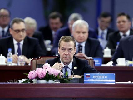 Дмитрий Медведев на заседании Совета глав правительств стран-членов ШОС