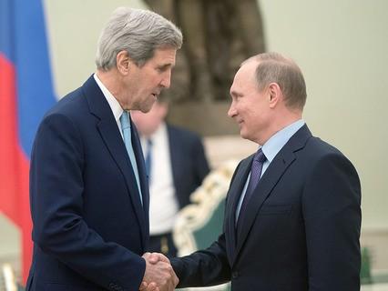 Владимир Путин встретился с госсекретарём США Джоном Керри