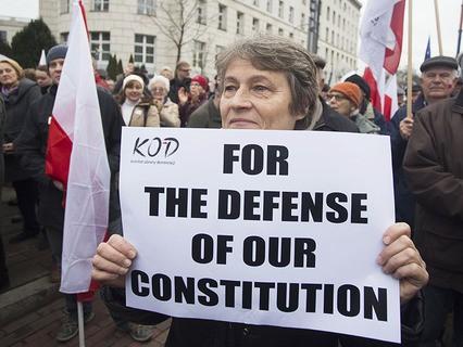 Протестный митинг в Варшаве