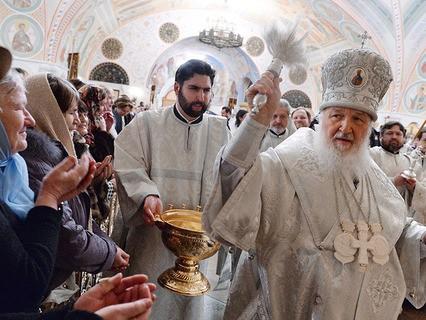 Патриарх Кирилл совершил чин Великого освящения воды в Храме Христа Спасителя