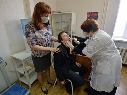 Школьник на приёме у врача