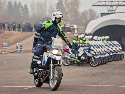 Interpolitex-2015. Демонстрационный показ езды на мотоциклах