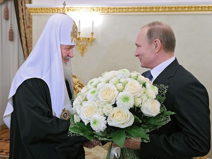 Владимир Путин поздравил с днём интронизации Патриарха Московского и всея Руси Кирилла