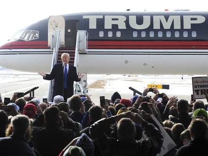 Дональд Трамп прилетел в Айову