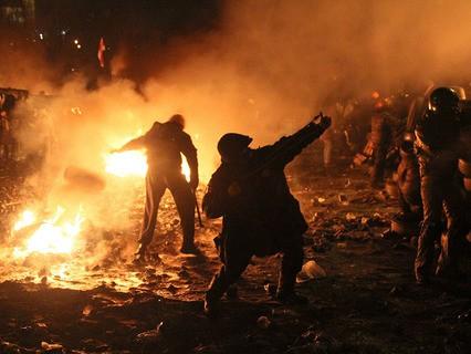 Беспорядки в Киеве. Январь, 2014.