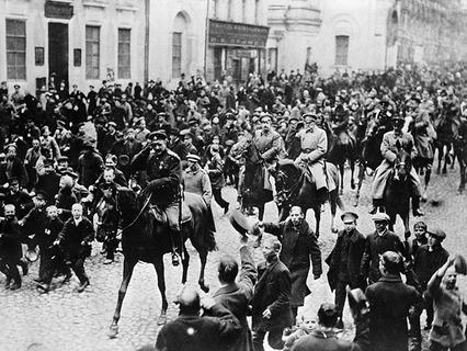 В первый день Февральской революции в Москве