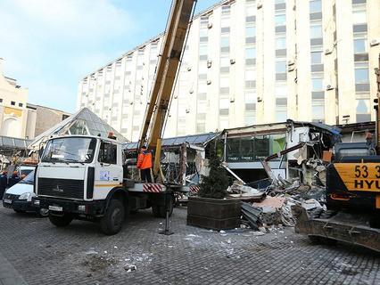 """Снос ТК """"Пирамида"""" на Пушкинской площади"""