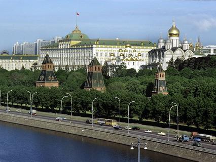 Вид на Московский Кремль. 1990 год