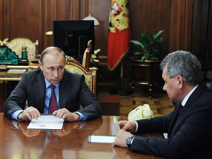 Владимир Путин и глава Минобороны Сергей Шойгу