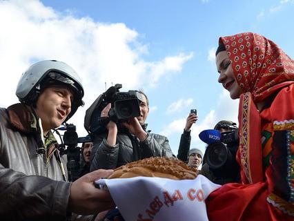 Российских лётчиков из Сирии встретили в Воронежской области