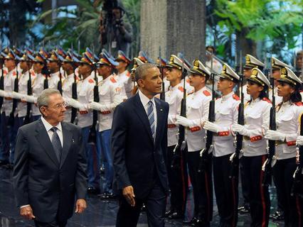 Рауль Кастро и Барак Обама