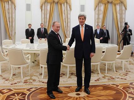 Владимир Путин и госсекретарь США Джон Керри