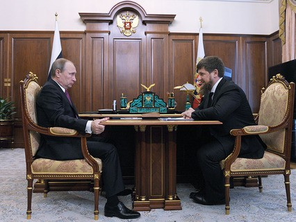 Владимир Путин и глава Чечни Рамзан Кадыров