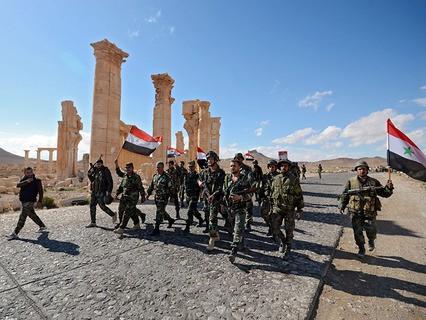Сирийские военные в Пальмире
