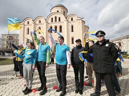 Украинские активисты у посольства Нидерландов в Киеве