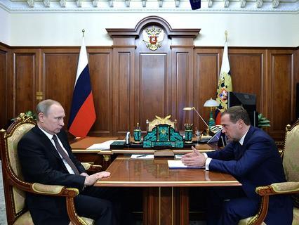Владимир Путин провёл встречу с премьер-министром Дмитрием Медведевым
