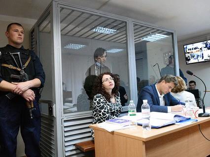 Россияне Евгений Ерофеев и Александр Александров в Голосеевском районном суде Киева