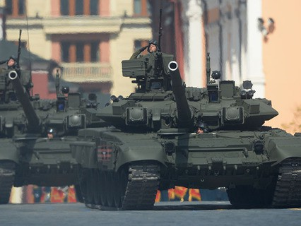 На генеральной репетиции военного парада, посвященного 71-й годовщине Победы в Великой Отечественной войне