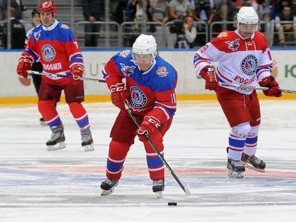 Владимир Путин принял участие в гала-матче турнира Ночной хоккейной лиги